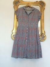 SEASALT 100% Cotton LOTTIE Ditsy VINTAGE STYLE Tea DRESS Size 16