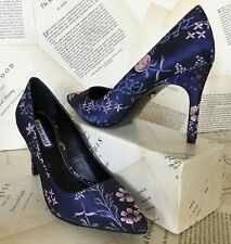 6c2c75c0ae4 NIB Charles David blue pink Floral Satin Bought at Anthropologie Pump Heel  5.5