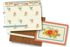 1:48 Scale Dollhouse Wallpaper - Pindot Calico from a 1938 Vintage Design