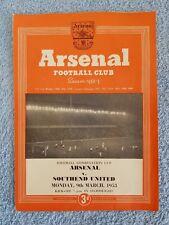 1953 - ARSENAL v SOUTHEND UTD PROGRAMME - COMBINATION CUP - 52/53