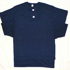 Big Mens Hanes 100% Cotton T-Shirts 2X Lot of 3 Navy NEW