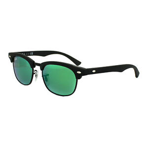Ray-Ban Junior Sunglasses 9050 100S3R Black Green Flash Mirror