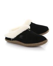 Sorel Nakiska Black Suede and Wool Slide Slipper 5 $76