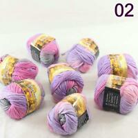 Sale Lot 8 Skeins NEW Knitting Yarn Chunky Hand-woven Colorful Wool scarves 02