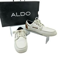 Aldo ETALIVIEL Sneakers Men's Size 9 White Low Top Lace Up Casual Fashion Shoes
