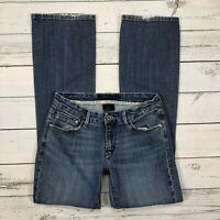 Levis 547 Platinum Flare Jeans Size 4 Womens Medium Wash Stretch Denim