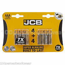 1 x 8 Pack of Aaa Jcb Super Alkaline Batteries for Mp3 Digital Camera Rc Cars
