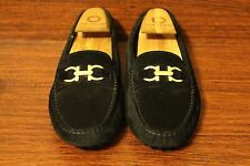 SALVATORE FERRAGAMO SABA BLACK DRIVING MOCCASINS LOAFERS WOMEN SIZE 7 M