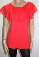 HOT OPTIONS Brand Red Sleeveless Stretch Cape Trim Top Size 16 BNWT #SD20
