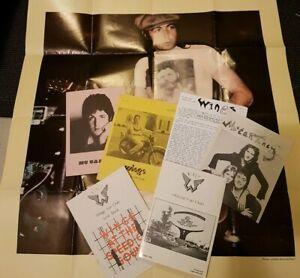 Paul McCartney Wings fan club 1973 1976 pre Club Sandwich Issue 1 2 5 6 + poster