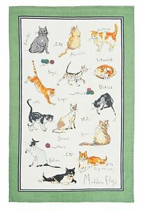 """Ulster Weavers, """"Cats"""" by Madeleine Floyd, Pure cotton printed tea towel"""