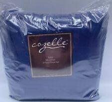 New Cozelle King Microfiber 4-Piece Sheet Set Royal Blue Sheets