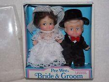 Vintage Uneeda Pee Wee Bride & Groom Dolls In Box
