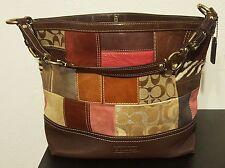 Coach Holiday Patchwork Leather Suede Purse Handbag No. 10434
