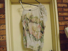 City Chic One-Sleeved Sheer Top sz L