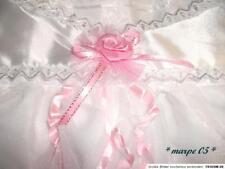 Taufkleid ,Hut,Schuhe 3 teilig weiß /Rosa mit Spitze ca.Größe 74 -80