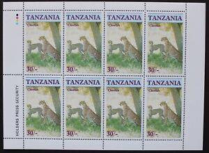 """Tansania: Michel-Nr. 331 """"Gefährdete Wildtiere: Gepard"""" Klbg. aus 1986, postfr."""
