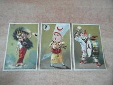3 x CHROMO BON-POINT SCOLAIRE IMAGE Caricatures Musiciens et Ténors Circa.1890