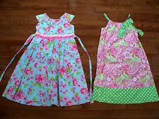 Lots of 2 Girl's Floral Dresses, Size 10-12, Pre-owned