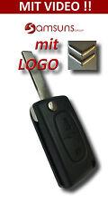 2 Tasten Auto Klapp Schlüssel +LOGO f. CITROEN Jumper C1 C2 C3 C4 C5 C6 Berlingo
