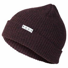 Neff Men's Fold Heather Beanie Sangria Black Burgundy Headwear Cold Snow Winter