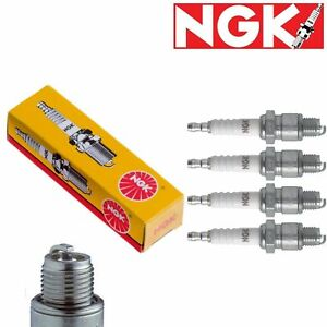 4 x Japan NGK Standard Spark Plugs for 1986-1989 Subaru RX 1.8L H4