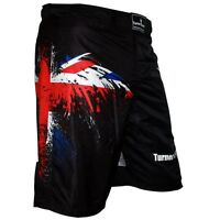 TurnerMAX MMA Shorts UFC Grappling Cage Fight Muay Thai Training Boxing UK Flag