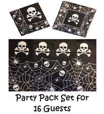 Piraten Schädel & Knochen ~ Halloween Geburtstagsparty Pack ~ Set für 16 Gäste