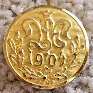 Ex Scarce Gilded 1904 World's Fair button back marked