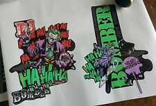 Marzocchi Dirt Jumper Decals.Custom Joker Theme.Dirt Jump. Bomber.Fork Decals