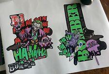 Marzocchi Dirt Jumper Decals.Custom Joker Theme.Dirt Jump. Bomber.Fork Decals