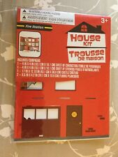 New House Kit Trousse De Maison Fire Station Kit Boy's Girl's Ages 3 and Up
