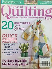 Fons & Porter's Love of Quilting Magazine Mar/Apr 2014 Ideas For Spring Quilts