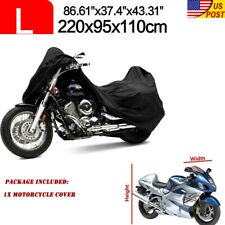Motorcycle Cover L Waterproof Outdoor Heavy Duty For Winter Storage Snow Rain