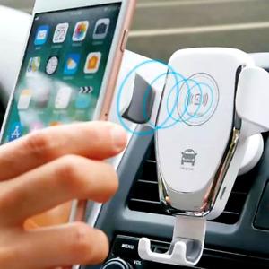 Cargador de Carro Coche Auto Rapido Inalambrico para Samsung Android iPhone ios