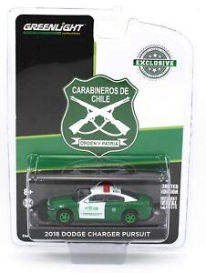 1:64 GreenLight CARABINEROS DE CHILE 2018 Dodge Charger Pursuit GREEN MACHINE