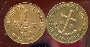 Medaille  1 Rappel de Notre Foi - Noel 1967