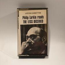 Philip Larkin reads THE LESS DECEIVED Cassette (Listen/The Marvell Press) 1958