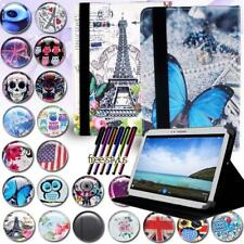 FOLIO LEATHER STAND CASE COVER For Various Samsung Galaxy Tab 2/3/4 Tablet + pen
