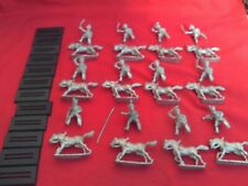 WARGAMES FOUNDRY 28mm BRITISH MOUNTED HUSSARS WITH BUSBY X 12 WITH BASES,NEW