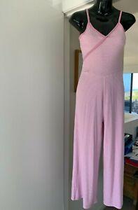 Ladies Pink & White Jumpsuit. Size XS