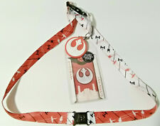 Rebel Battles Star Wars Deluxe Lanyard w Rubber Charm & ID Card-Licensed