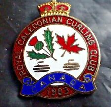 Vintage Curling Club Pin - Royal Caledonian Curling Club Canada 1983