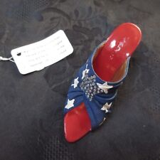 Just The Right Shoe Star Spangled Jtrs 25197 2002 Retired Raine Usa 9/11