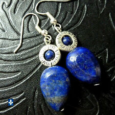 ✨ GROUPED SHIPPING DISCOUNTS Lovely Lapis Lazuli Silver Plated Framed Earrings