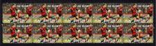 Dan Carter Nz All Blacks Rugby Strip Of Mint Vignette Stamps 3