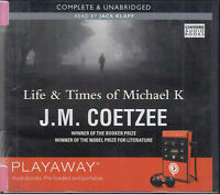 JM Coetzee Life & Times Of Michael K Playaway Digital MP3 Audio Book Unabridged