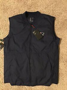 NFL New England Patriots Nike 944346-419 Sideline Vest Jacket Men's Medium