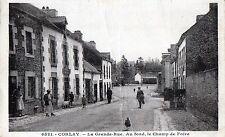 CPA 22 - CORLAY (Côtes d'Armor) 6521. La Grande-rue. Au fond, le Champ de Foire