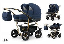 Polbaby Mikado Zwillingswagen Twin Goldstar 3in1- Set Wanne Buggy Babyschale 14